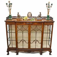 Antique Chippendale China Cabinet Mahogany Antique c.1910 (2 of 15)