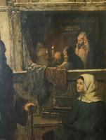 Substantial 19th Century Flemish Oil Painting of Locals in Brugge by Dumont (12 of 21)