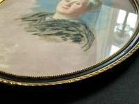 Fine Quality Early 20th Century Oval Pastel Portrait Painting Inc London Gallery Label (7 of 12)