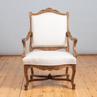 Pair of Large French Walnut & Parcel-Gilt Armchairs (8 of 10)