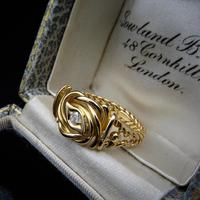 Antique Diamond Lovers Knot 18ct Gold Ring (7 of 7)