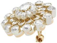 3.76ct Diamond & 9ct Yellow Gold Brooch / Pendant - Antique c.1880 (3 of 9)
