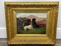 """19th Century Oil Painting Sporting """"Game Dogs"""" Signed Robert Cleminson (14 of 48)"""