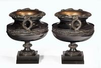 Handsome Pair of 19th Century Bronze Neoclassic Urns (5 of 7)