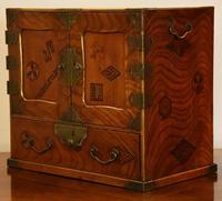 Excellent 19th Century Japanese Elm Jewellery Box / Table Cabinet (5 of 14)