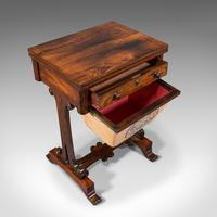 Antique Fold Over Games Table, English, Rosewood, Chess, Cards, Regency c.1820 (6 of 12)