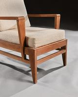 Iconic Pair of Rene Gabriel Mid 20th Century Oak Lounge Chairs (5 of 7)