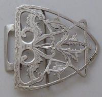 Edwardian 1901 Hallmarked Solid Silver Nurses Belt Buckle Charles W Comyns (3 of 7)