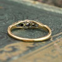 The Antique Three Diamond Bezel Set Ring (3 of 6)