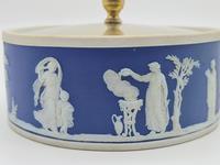Blue Wedgwood Jasperware Butter Dish c.1890 (5 of 5)