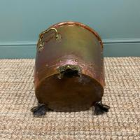Spectacular 19th Century Victorian Arts & Crafts Antique Copper Log Bucket (4 of 7)