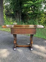 Antique Carved Oak Hall Side Table (6 of 11)