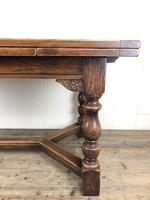 Extending Oak Draw Leaf Refectory Dining Table (4 of 17)