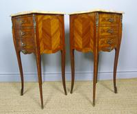Pair of Antique French Bedside Cabinets Marble Top (3 of 6)
