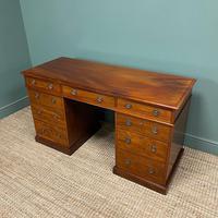 Fine Quality Victorian Mahogany Antique Pedestal Desk (3 of 7)