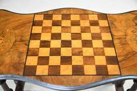 Antique Walnut Inlaid Victorian Games Table (10 of 10)