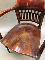 Secession Desk Chair by Otto Wagner, stamped (2 of 11)