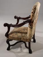 Large & Finely Carved Pair of Early 20th Century Throne Type Chairs (3 of 5)
