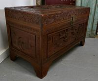 Carved Oriental Camphor Wood Chest (6 of 8)