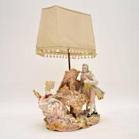 Antique Italian Capodimonte Porcelain Table Lamp (2 of 11)