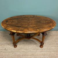 Magnificent Victorian Figured Walnut Antique Centre Table (8 of 9)