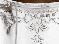Victorian Silver Christening Mug in a Straight Body Form and Garland and Scroll Engraving (3 of 5)