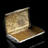 Antique Imperial Russian Solid Silver Samorodok Snuff Box Case - Rudolf Veyde c.1900 рудольф Вейде (9 of 15)