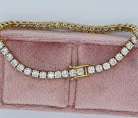 18ct YG Diamond Tennis Bracelet with Safety Clasp (3 of 6)