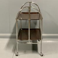 Vintage Gerlinol Folding Drinks Trolley with Capped Castors (6 of 6)