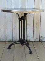 Art Deco Marble & Cast Iron Garden Bistro Table (4 of 7)