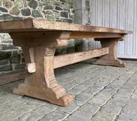 Huge French Bleached Oak Farmhouse Refectory Dining Table (6 of 11)