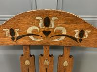 Arts & Crafts Inlaid Armchair (4 of 9)
