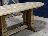 Huge French Bleached Oak Monastery Dining Table (8 of 30)