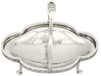 Sterling Silver Basket - Arts and Crafts - Antique George V (1922) (2 of 12)