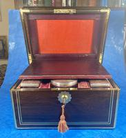 Georgian  Rosewood Brassbound Vanity Box (20 of 34)