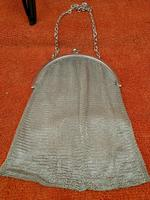 Antique Sterling Silver Hallmarked Art Deco Chain Mail Bag Purse 1923 London A M & M Ltd (8 of 12)