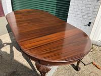 Antique Mahogany 8Ft Wind Out Extending Dining Table (7 of 14)