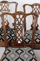 Set of 6 Antique Edwardian Mahogany Chippendale Chairs (12 of 15)