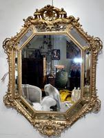 Large Gilt Cushion Mirror (6 of 9)