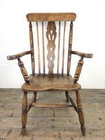 Antique Beech & Elm Windsor Armchair (12 of 12)