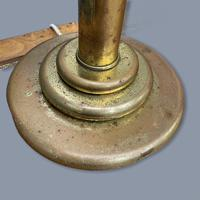 Very Large Pair of Brass Column Lamps (6 of 6)