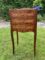 Pair of French Marquetry Bedside Tables in Kingwood (8 of 9)