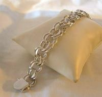 "Vintage Sterling Silver Bracelet 1950s Forstner Usa 7 1/2"" Length 38.2 Grams (8 of 11)"