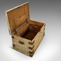 Antique Mail Chest, English, Pine, Carriage, Merchant, Victorian c.1880 (9 of 12)