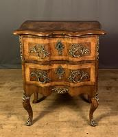 French Walnut Shaped Front Commode Chest (5 of 10)