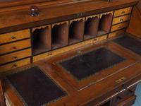 Victorian Oak Cylinder Top Desk or Bureau (12 of 16)