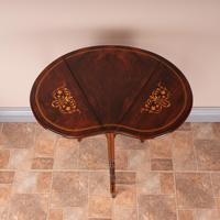 Edwardian Inlaid Rosewood Drop Leaf Occasional Table (7 of 23)