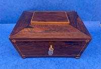 William IV Rosewood Box with Boxwood Inlay (5 of 10)