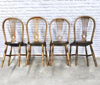 Set of 4 Windsor Kitchen Chairs with Unusual Back-rest Style (4 of 7)