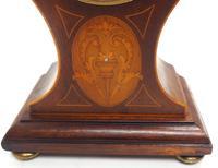 Super Art Nouveau Mantle Clock Tulip Floral Inlay 8 Day Mantle Clock (6 of 15)